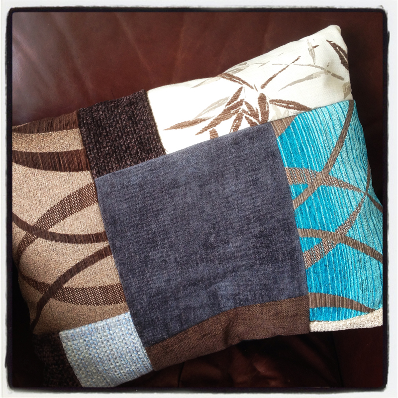 bespoke-patchwork-cushions-handmade-using-recycled-materials-at-The-Pink-House-Lulworth-Dorset