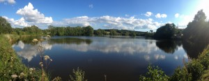 panoramic shot of Lulworth Lake just a short walk from The Pink House