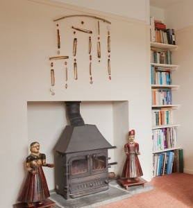 wood burning stoves in both lounges and library in the downstairs snug