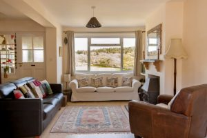 lounge-view-from-The-Pink-House-Lulworth holiday home accommodation close to the sea at Lulworth Cove and Durdle Door
