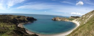 The Pink House is just a few kilometres from the famous horse shoe shaped cove at Lulworth