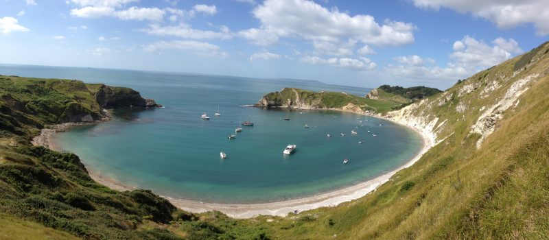 Lulworth Cove is close by The Pink House Lulworth holiday cottage accommodation