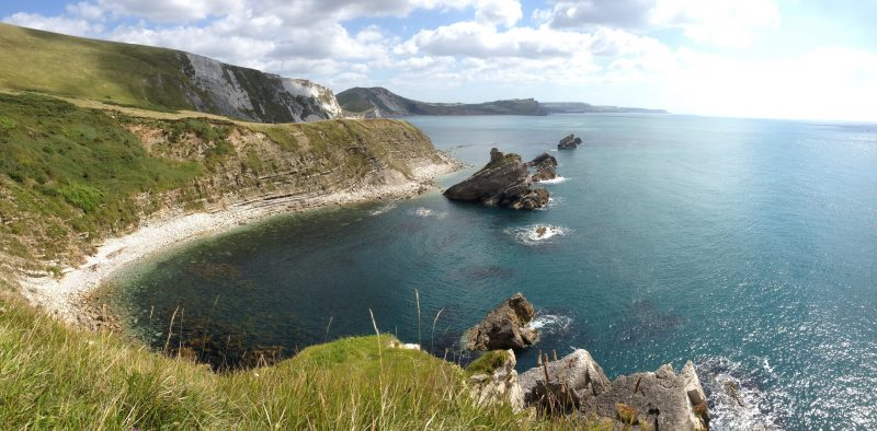 walking the Jurassic Coast to Mupe Bay ©The Pink House Lulworth holiday home accommodation sleeps 8