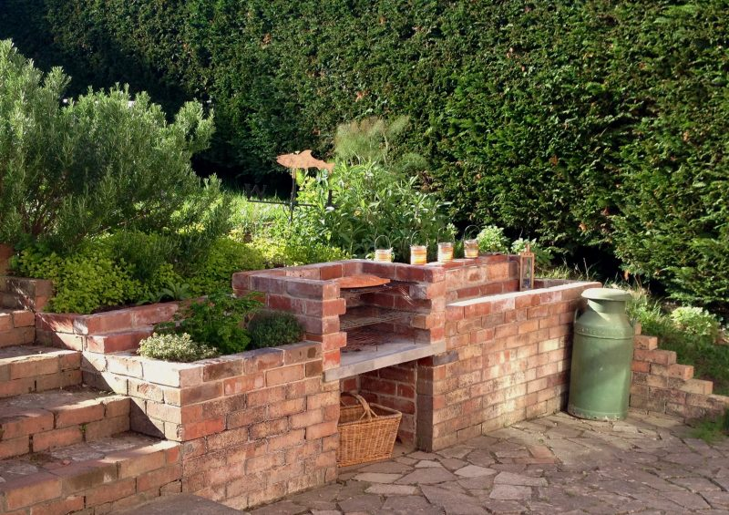 bbq and herb garden at The Pink House Lulworth