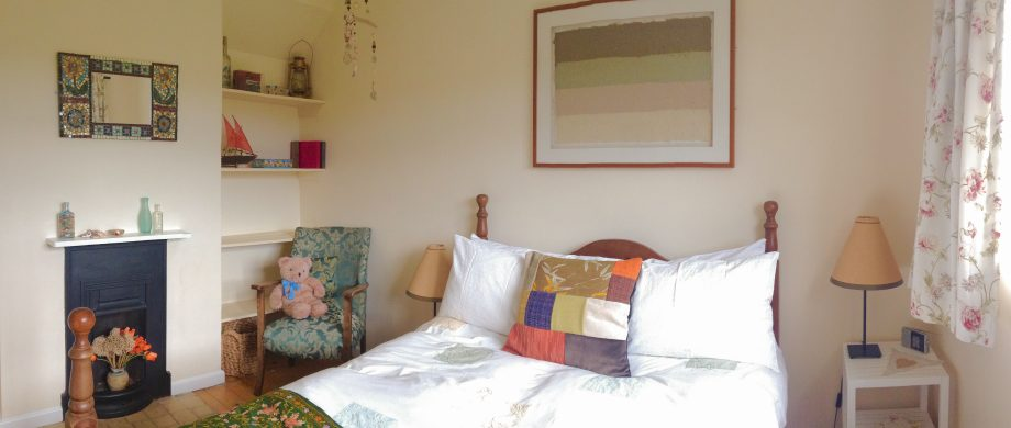 front bedroom at The Pink House holiday cottage Lulworth