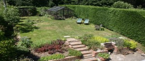 lovely garden to relax and enjoy at The Pink House Lulworth Dorset