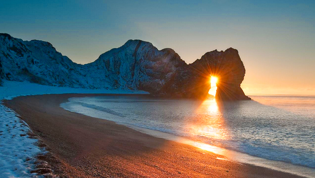 Winter Sunrise Through Durdle Door